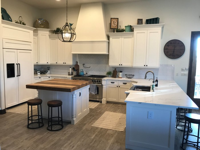 Tips For Decorating The Space Above Your Kitchen Cabinets Cabinetdoors Com